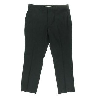 Perry Ellis Mens Pinstripe Flat Front Dress Pants - 38/32