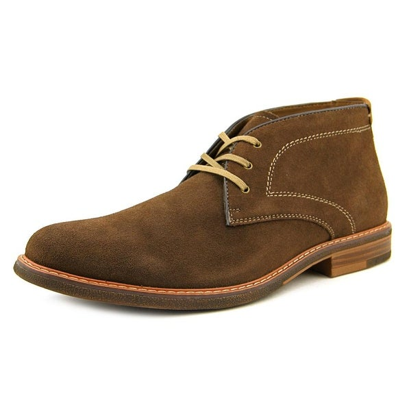 Bass Hurley Men Round Toe Suede Brown Chukka Boot