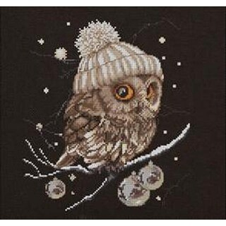 Whoo...Whoo... It's Winter (16 Count) - Thea Gouverneur Counted Cross Stich Kit