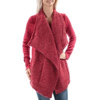 LUCKY BRAND Womens Red Metalic Long Sleeve Open Cardigan Sweater  Size: L