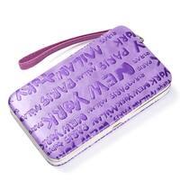 "1313 ""Newyork"" Lettered Fashion Frame Wallet-Purple"