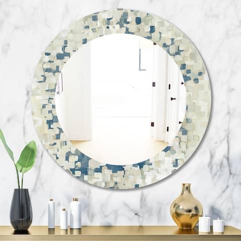 Porch & Den 'Geometric Blue Spots' Modern Mirror
