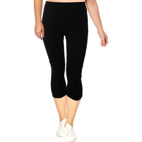 Calvin Klein Performance Womens Plus Capri Leggings High Waist Heathered