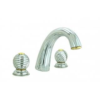 Bathroom Faucet Chrome Swirl Widespread Ball 2 Handles Renovator's Supply