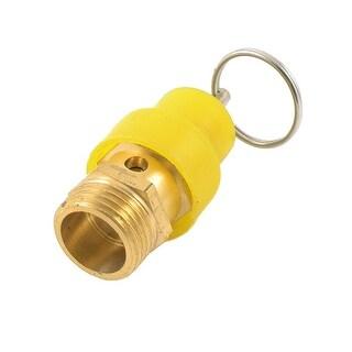 """Unique Bargains Yellow Plastic Coated 1/2""""PT Threaded Air Pressure Relief Valve"""