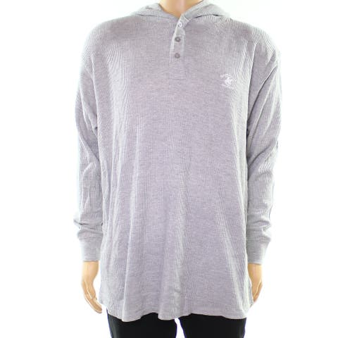 Beverly Hills Polo Club Gray Mens Size XL Thermal Hooded Sweater