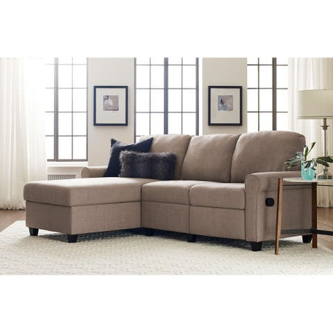 """Serta Copenhagen 89"""" Reclining Sectional with Left Storage Chaise"""