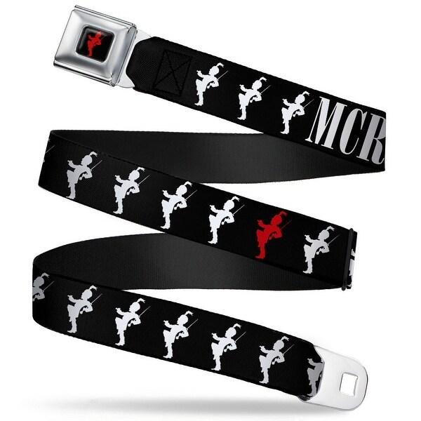 My Chemical Romance Black Parade Logo Full Color Black Red Mcr Black Parade Seatbelt Belt