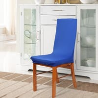Unique Bargains 2 Pcs Blue Spandex Removable Stretch Dining Chair Cover Protector