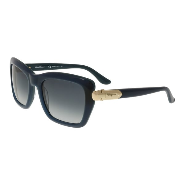Salvatore Ferragamo SF763/S 416 Petrol Rectangle Sunglasses - 54-20-135