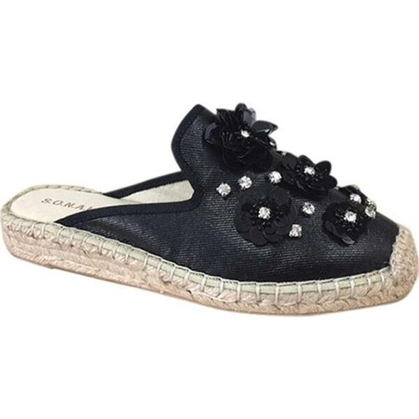 2decf9513 Shop Patricia Green Women's Tia Jewels Espadrille Mule Black Cotton - Free  Shipping Today - Overstock - 20870310