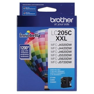 Brother Printer Lc205c Super High Yield Ink Cartridge, Cyan