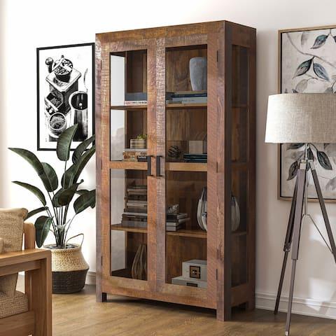 Furniture of America Anaisha Rustic Solid Wood Bookshelf