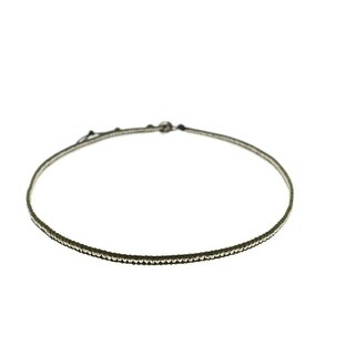 Chan Luu Womens Leather Beaded Bracelet - mehandi