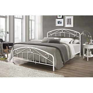 Jolie Metal Bed with Arched Scroll Design