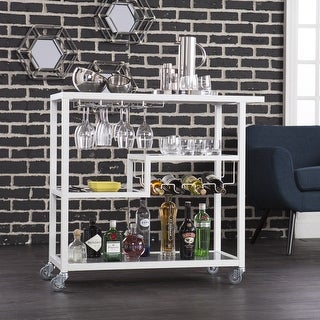 Link to Carbon Loft Glenn White Metal Bar Cart Similar Items in Home Bars