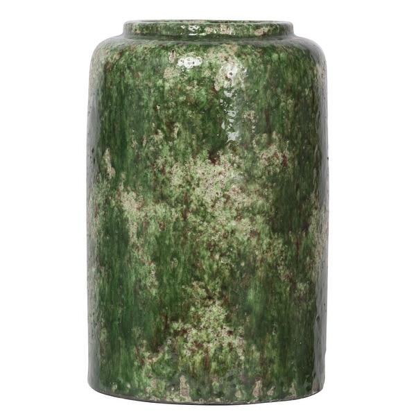 "11.75"" Green Firth Round Vase Medium - N/A"