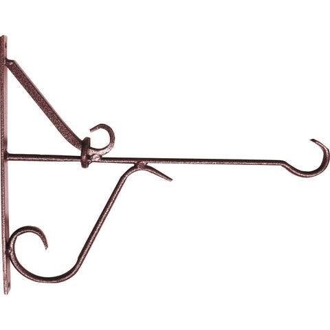 "Mintcraft GB-3932 Wall-Mount Hanging Plant Bracket 12"", Matte Hamertone Bronze"