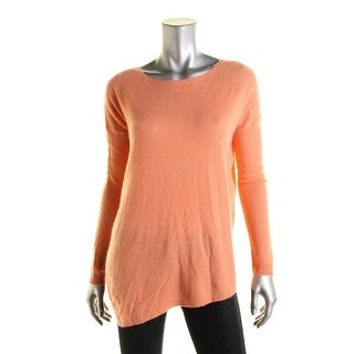 Joie Womens Cashmere Ribbed Trim Pullover Sweater