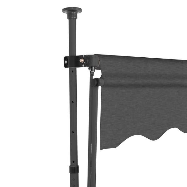 Umbrellas & Shade vidaXL Manual Retractable Awning 59 Anthracite ...