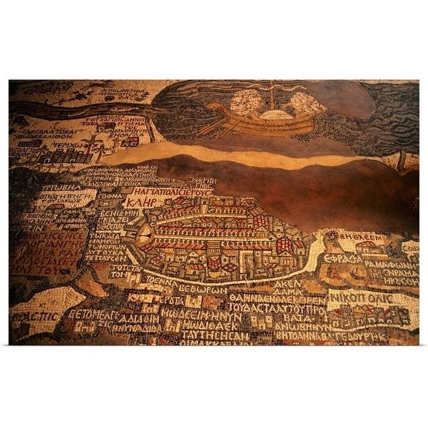 """""""The Madaba mosaic map"""" Poster Print"""
