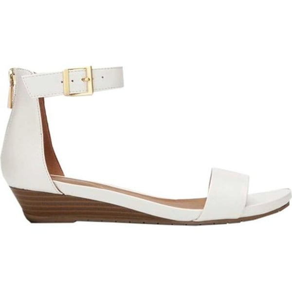 8192c3fb6992 Shop Kenneth Cole Reaction Women s Great Viber Wedge Sandal White  Polyurethane - Free Shipping Today - Overstock - 19880081