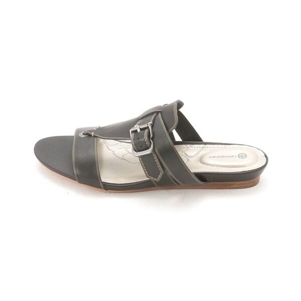 Giani Bernini Womens MERCEDE Leather Open Toe Casual Slide Sandals