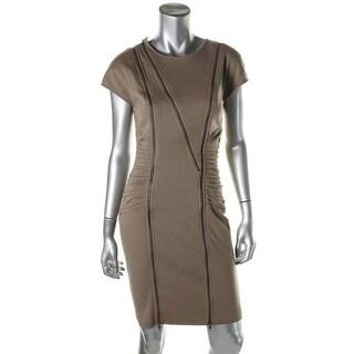 Catherine Malandrino Womens Ponte Pleated Party Dress - 4