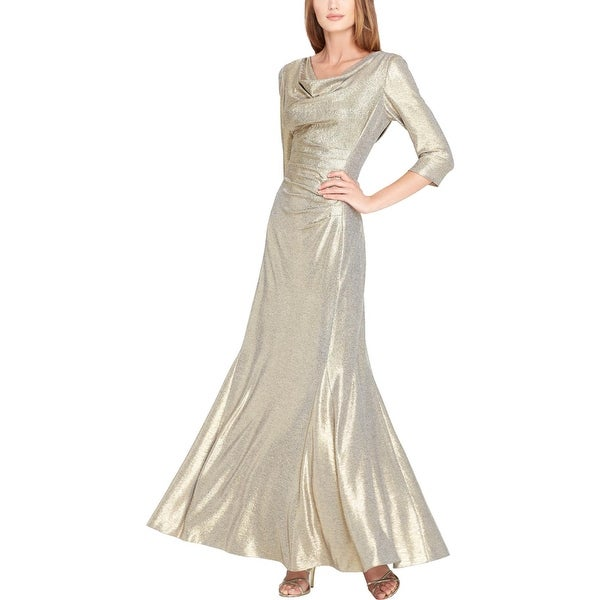 7b85821aedbc Tahari Asl Womens Evening Dress Metallic Special Occasion