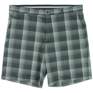 Greg Norman Mens Moisture Wicking Plaid Casual Shorts - 33