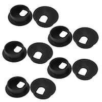 Unique Bargains PC Desk Black Plastic 35mm Diameter Grommet Cable Hole Cover 10 Pcs