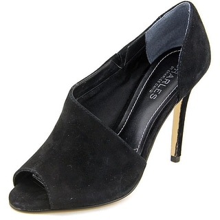 Charles By Charles David Reward Women Open Toe Suede Black Sandals