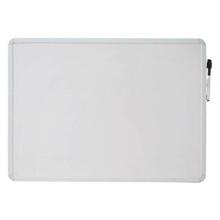 School Smart Dry Erase Board, 16 L x 22 W in, White Frame, Horizontal/Vertical Mount