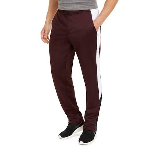 Ideology Mens Pants Red Size Large L Sweatpant Fleece Colorblock Stretch