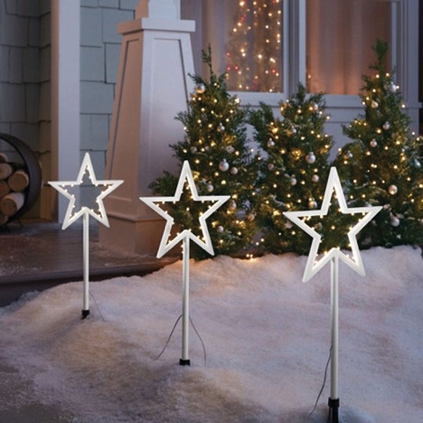 celebrations 23061 71 led star christmas pathway markers white 20