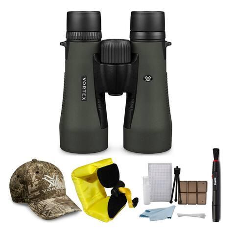 Vortex Diamondback 10x50 Binocular with Vortex Cap & Accessory Bundle