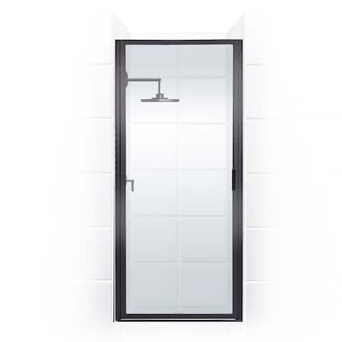 """Coastal Shower Doors P24.66-C Paragon Series 24"""" x 65"""" Framed Continuous Hinge Shower Door with Clear Glass -"""