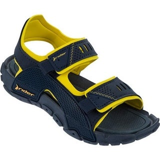 Rider Boys' Tender VIII Active Sandal Blue/Yellow