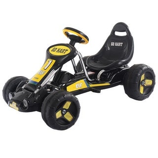 Go Kart Kids Ride On Car Pedal Powered Car 4 Wheel Racer Toy Stealth