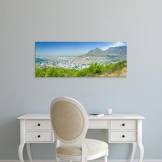 Easy Art Prints Panoramic Images's 'View of Cape Town and Table Bay, Table Mountain, South Africa' Premium Canvas Art