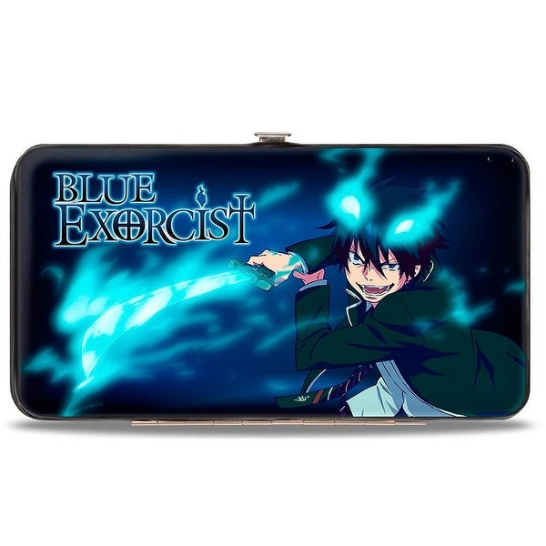Blue Exorcist Rin Pose Blues + 7 Character Group Pose Hinged Wallet - One Size Fits most