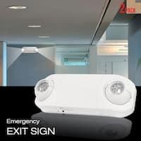 eToplighting Indoor and Outdoor LED Emergency Light, Set of 2 - White