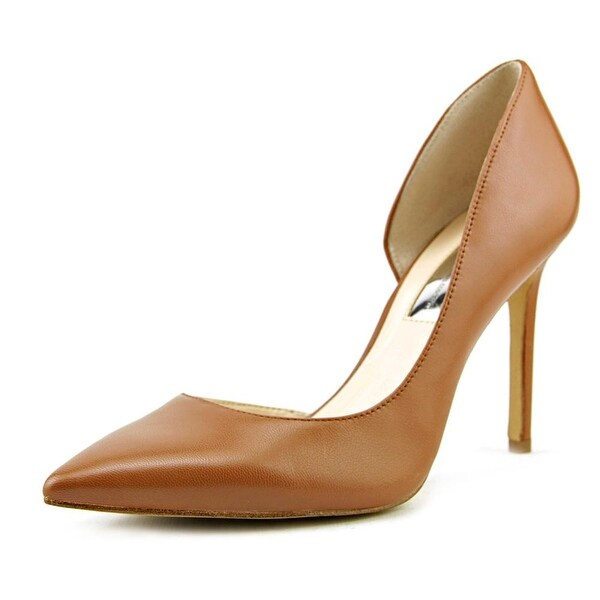 INC International Concepts Kenjay 8 Women Pointed Toe Leather Tan Heels