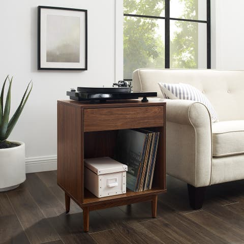 """Liam Record Storage End Table - 25.5""""H x 20""""W x 15.75""""D"""