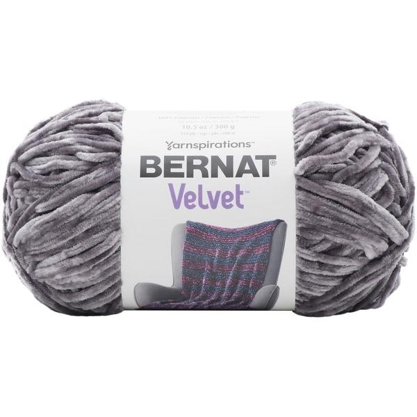 Shop Bernat Velvet Yarn Vapor Gray Free Shipping On