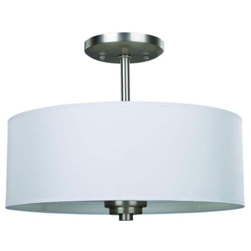 Canarm isf280a03 pier 3 light 14 12 wide semi flush drum ceiling canarm isf280a03 pier 3 light 14 12 wide semi flush drum ceiling fixture free shipping today overstock 23446462 aloadofball
