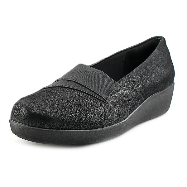 Easy Spirit Kaleo Women Round Toe Synthetic Black Loafer