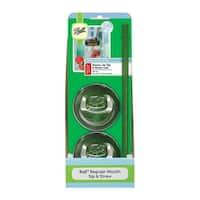 Ball 1440015005 Mason Regular Mouth Jar Lids & Straws, Opaque, Pack of 2