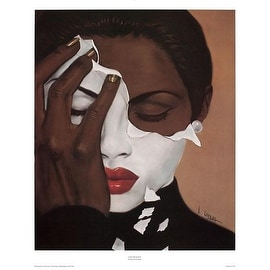 ''Face Reality (Female)'' by Laurie Cooper African American Art Print (27 x 22 in.)