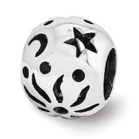 Sterling Silver Reflections Sun Moon Stars Bead (4mm Diameter Hole)